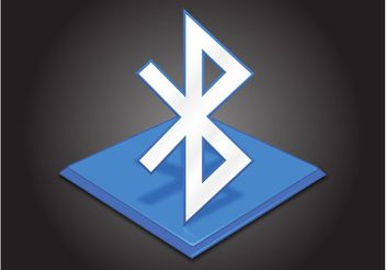 Bluetooth Icon - Free vector #154241
