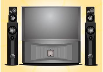 Home Entertainment System - Free vector #154321