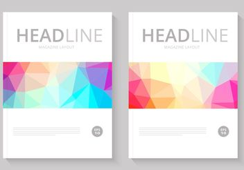 Free Abstract Magazine Cover Vector - Free vector #154391