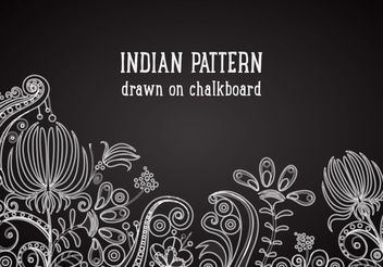 Free Indian Pattern On Blackboard Vector Background - Kostenloses vector #154461
