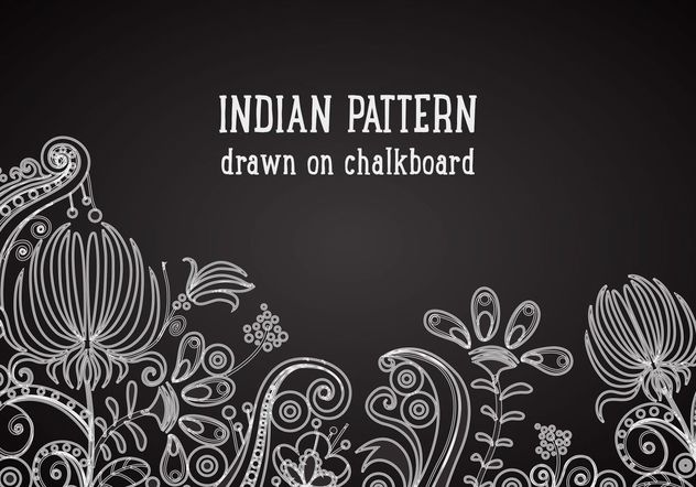 Free Indian Pattern On Blackboard Vector Background - vector gratuit #154461