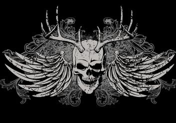 Skull T-shirt Vector Design - Kostenloses vector #154621