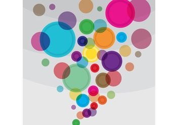 Bright Circles Vector Background - vector gratuit #154741