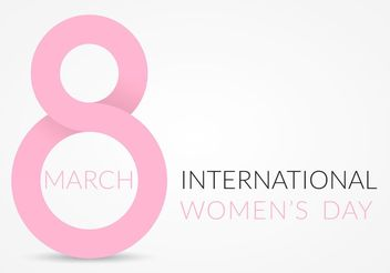 Free Vector Women's Day Design - vector gratuit #154761