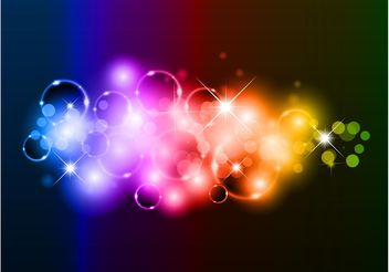Rainbow Bubbles Background - vector #154921 gratis