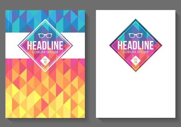 Free Vector Geometric Magazine Covers - Free vector #155091