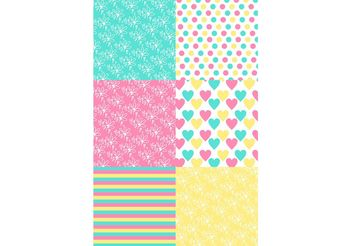 Colorful Kids Pattern Set - бесплатный vector #155131