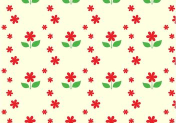 Flowers Seamless Pattern - vector gratuit #155261