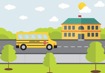 School Bus Design Vector Free - бесплатный vector #155321