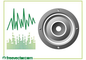 Sound And Music Graphics - vector gratuit #155481