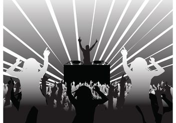 DJ and Party People - vector gratuit #155511