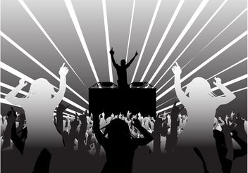 Disco Party Layout - Free vector #155531