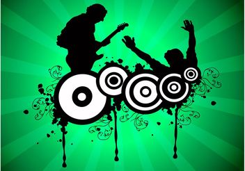 Crazy Music - vector gratuit #155541