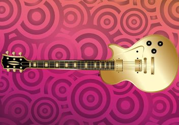 Golden Guitar - vector gratuit #155551