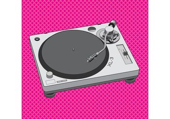 DJ Equipment Turntable Design - Kostenloses vector #155571