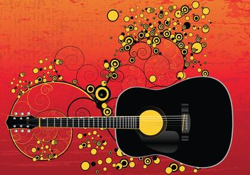 Acoustic Guitar - vector gratuit #155631