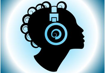 Music Head - vector #155641 gratis