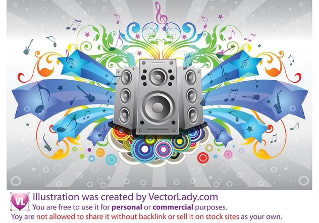 Music Sound System - Free vector #155691