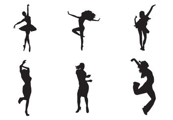 Free Vector Dancing Girl Silhouettes - Free vector #155721