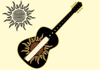 Sun And Music Vector - vector gratuit #155751