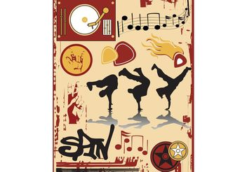 Breakdance Poster Graphics - Free vector #155821