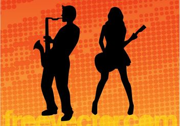 Musicians - Free vector #155871