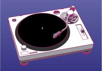 Turntable Vector Graphics - vector gratuit #155911