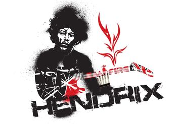 Jimmy Hendrix Vector Fire - Free vector #155941