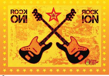 Rock Guitars Vector - бесплатный vector #155961