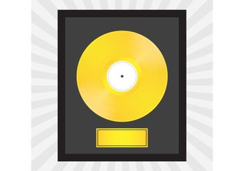 Gold Record Vector - Free vector #155971