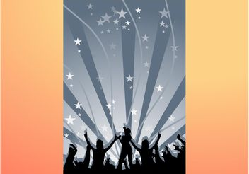 Dancing Background - vector gratuit #156021