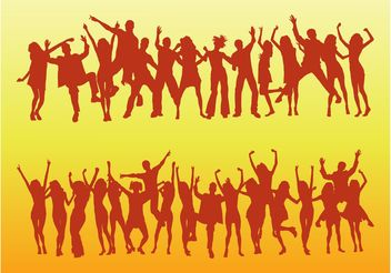 Dancing Vector Crowds - Free vector #156051