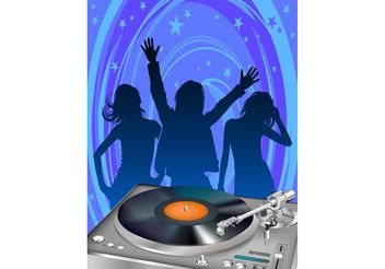 Disco Party Poster Template - vector gratuit #156091