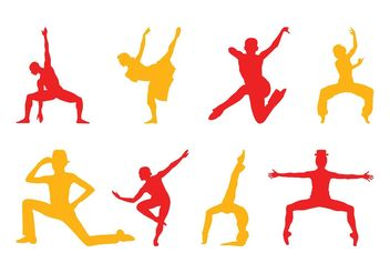 Dancers Silhouettes Pack - Free vector #156101