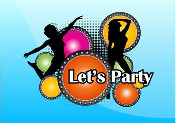 Party Girls - vector gratuit #156251