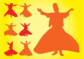 Turkish Dancers Silhouettes - vector gratuit #156311