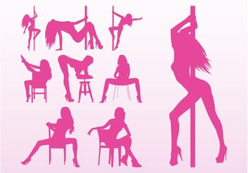 Stripper Girls Vectors - vector gratuit #156341