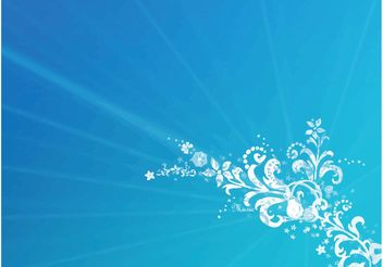 Blue Floral Background - vector #156481 gratis