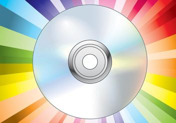 CD DVD Disc Vector - vector gratuit #156541