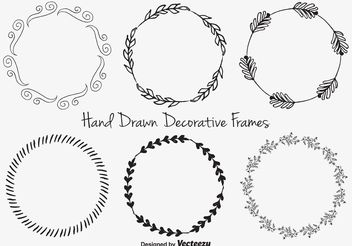 Hand Drawn Decorative frames - vector gratuit #156591