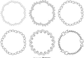 Hand Drawn Frame set - vector gratuit #156611