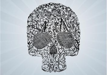 Vector Skull Drawing - Free vector #156681