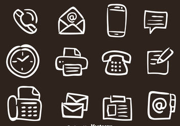 Hand Drawn Office Vector Icons - Kostenloses vector #156691