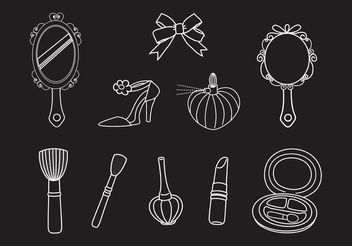 Free Drawn Vector Beauty Set - бесплатный vector #156721