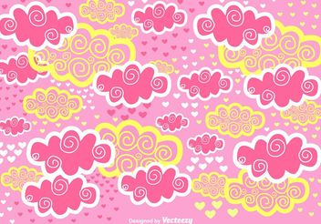 Scrapbook Pink Clouds Vector Background - Kostenloses vector #156731