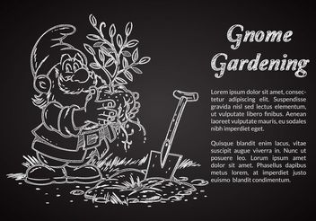 Free Chalk Drawn Gnome Vector Illustration - Free vector #156761