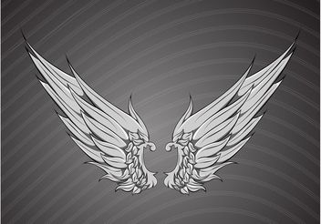 Free Ornate Wings Vector - vector gratuit #156871