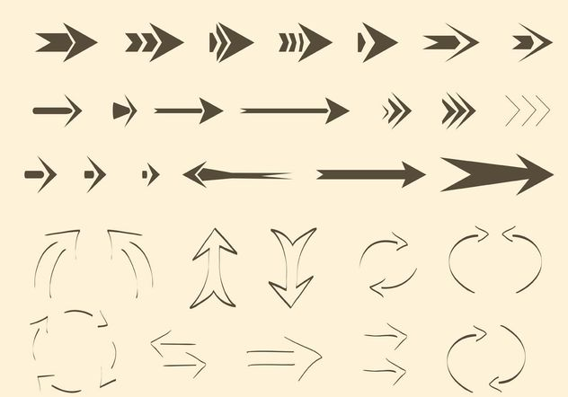 Free Vector Arrows and Lines - Free vector #156911