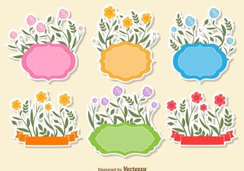 Floral Text Frame Vectors - бесплатный vector #156931