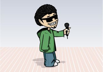 Hip Hop Cartoon - vector gratuit #156941